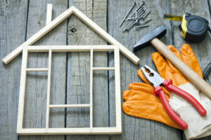 House construction renovation abstract background